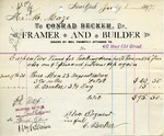 Receipt from Conrad Becker