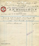 Invoice from A. K. Warren & Co.