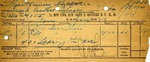 Receipt from New York, New Haven & Hartford R.R.