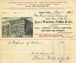 Receipt from Warren, Fuller & Co.
