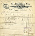Receipt from Geo. I. Roberts & Bros.