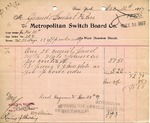 Receipt from Metropolitan Switch Board Co.