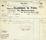 Receipt from Clarkson & Ford