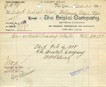 Receipt from The Bristol Company