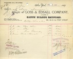 Receipt from Goss & Edsall Company