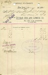 Receipt from Dunbar Box and Lumber Co.