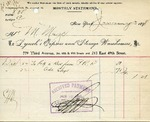Receipt from Lynch's Express and Storage Warehouses
