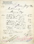 Receipt from Montgomery Maze (misc bills paid by)