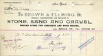 Receipt from Brown & Fleming