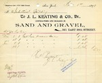 Receipt from J. L. Keating & Co.