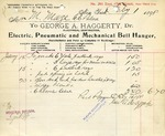 Receipt from George A. Haggerty