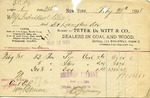 Receipt from Peter De Witt & Co.