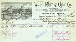 Receipt from W. F. Whitney Chair Co.