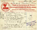 Receipt from Saunderson & Wright