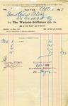 Receipt from The Watson-Stillman Co.