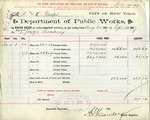 Receipt from Department of Public Works to R. & O. Goelet