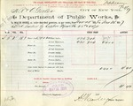 Receipt from Department of Public Works to R. & O. Goelet, meter number 43022