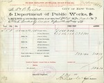 Receipt from Department of Public Works to R. & O. Goelet, meter number 86738