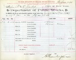 Receipt from Department of Water Supply to R. & O. Goelet, meter number 16863