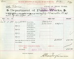Receipt from Department of Water Supply to Mr. Goelet