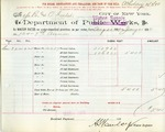 Receipt from Department of Water Supply to R. & O. Goelet