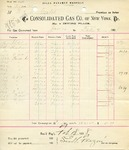 Receipt from Consolidated Gas Co. of New York to R. & O. Goelet