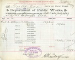 Receipt from Department of Public Works to Goelet Estate