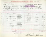 Receipt from Department of Water Supply to O. Goelet