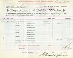 Receipt from Department of Water Supply to Goelet Estate, meter number 10282