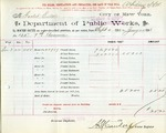 Receipt from Department of Water Supply to Goelet Estate