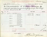 Receipt from Department of Water Supply to Wm. Berrian
