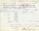 Receipt from Department of Water Supply to T. Firth Jr.