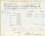Receipt from Department of Water Supply to Messers Lighte & Bros.