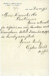 Letter from Ogden Goelet to Brewster & Co.