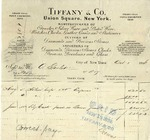 Invoice from Tiffany & Co. to Ogden Goelet by Tiffany & Co.