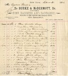Invoice from Burke & McDermott to Ogden Goelet