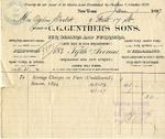 Invoice from C. G. Gunther's Sons to Ogden Goelet