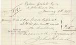 Invoice from John Read to Ogden Goelet by John Read