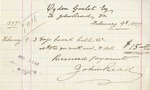 Invoice from John Read to Ogden Goelet
