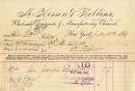 Invoice from McKesson & Robbins to Ogden Goelet by McKesson & Robbins