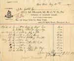 Invoice from J. M. Heard to Ogden Goelet