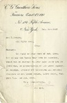 Letter from C. G. Gunther's Sons to Mrs. R. Goelet