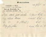 Memorandum from Charles J. Hill to Ogden Goelet