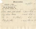 Memorandum from Charles J. Hill to Ogden Goelet