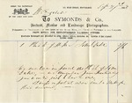 Invoice from Symonds & Co. to Ogden Goelet