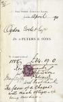 Receipt from Peters & Sons to Ogden Goelet