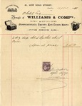 Invoice from Williams & Comp. to Ogden Goelet