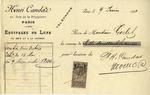 Invoice from Henri Candas to Ogden Goelet
