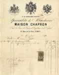 Invoice form Maison Chapron to Ogden Goelet