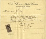 Invoice from A. Chenu to Ogden Goelet